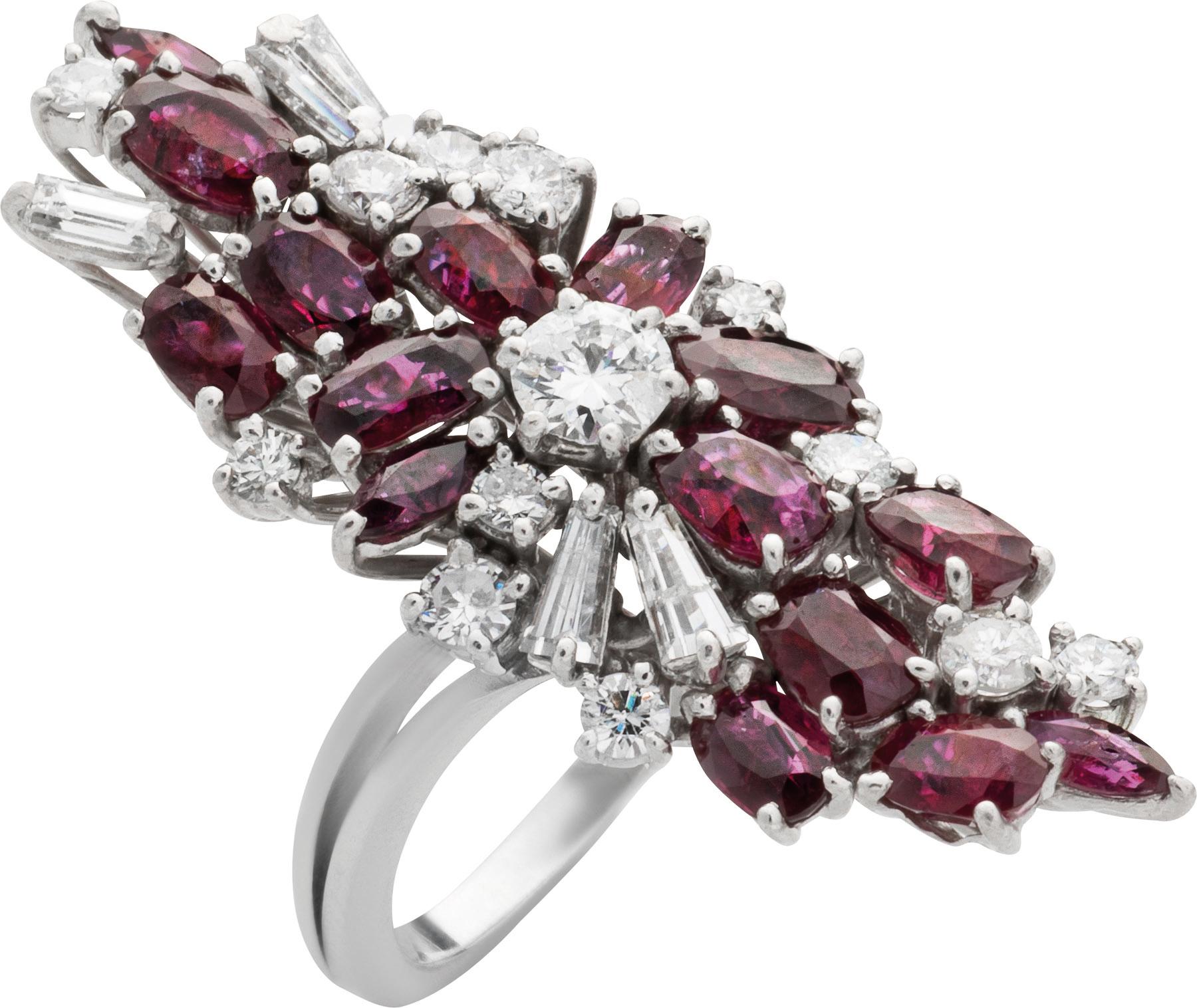 Prächtiger Diamant- und Rubinring