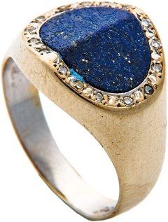Ring mit Diamanten und Lapis
