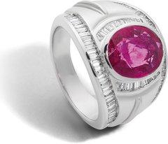 Rubinring mit Diamant